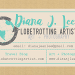 Globetrotting Artist Business Card